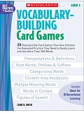 Scholastic - Teaching Resources - Vocabulary Buiding Card Games 3