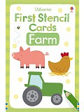 Usborne - First Stencil Cards: Farm
