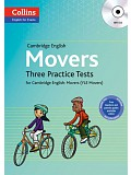COLLINS English for Exams - Cambridge English: Movers Three Practice Tests with MP3 CD (do vyprodání zásob)
