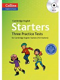 COLLINS English for Exams - Cambridge English: Starters Three Practice Tests with MP3 CD (do vyprodání zásob)