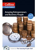 Collins English Readers 1 - Amazing Entrepreneurs & Business People with CD